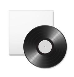 Blank vinyl disc vector