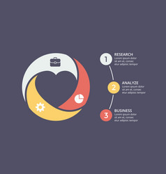 Circle heart love valentine infographic vector