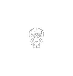 dog cartoon icon vector image