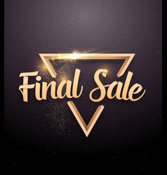 final sale lettering with rose gold glitter effect vector image