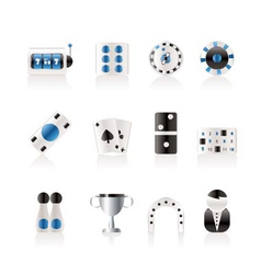 gambling and casino icons vector image vector image