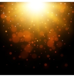 Gold glitter light background vector image vector image