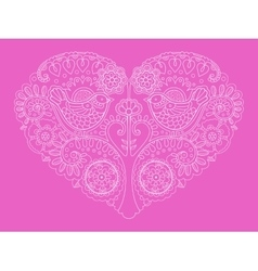 Heart design color vector image
