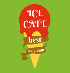 ice cream logo icon sweet frozen dessert vector image