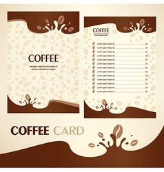menu coffee card vector image