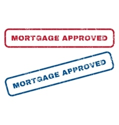 Mortgage approved rubber stamps vector