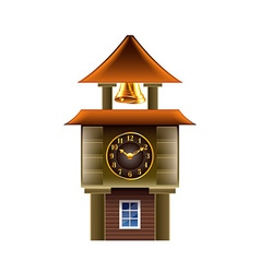 Old clock tower isolated on white vector image vector image
