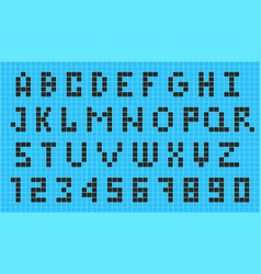 Old video game pixel font vector