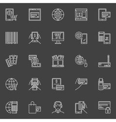 Online payment icons set vector image