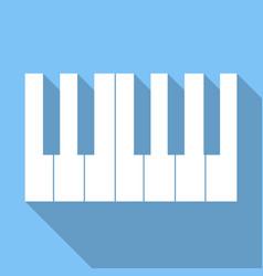 piano keys icon piano keys icon vector image vector image