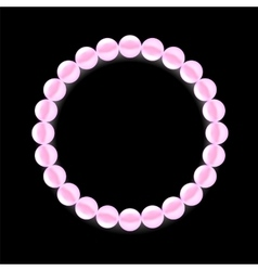 Pink Pearl Necklace vector image vector image