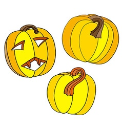 Pumpkin Halloween Icon Set vector image
