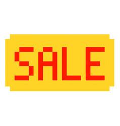 sale pixel art cartoon retro game style set vector image vector image