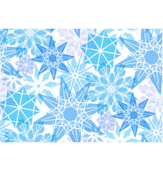 seamless pattern with transparent snowflakes for vector image vector image