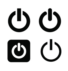 shut down icons vector image vector image