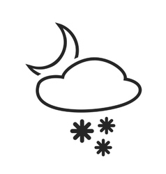 Sleet shower Night Heavy snow in the evening vector image