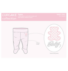 tights for a baby girl vector image vector image