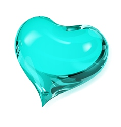 Turquoise heart vector image vector image