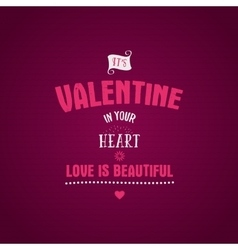 Valentine day lettering photo overlay vector