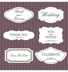 wedding lablels vector image