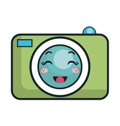 Kawaii cartoon photographic camera vector