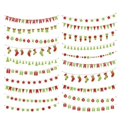 Christmas festive garlands vector