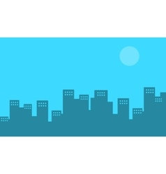 Silhouette of town flat vector