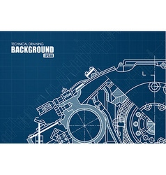 Technical background with drawings vector image