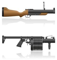 grenade gun 03 vector image