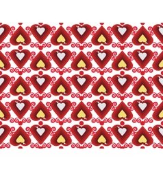 Abstract pattern with hearts vector