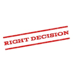 Right decision watermark stamp vector