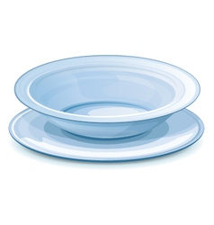 Empty dinner plate with stand vector
