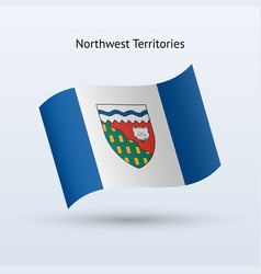 Canadian northwest territories flag waving form vector