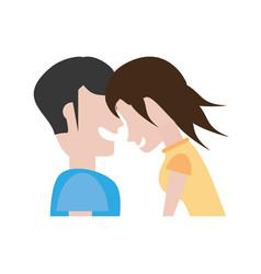 portrait couple romantic laughing vector image