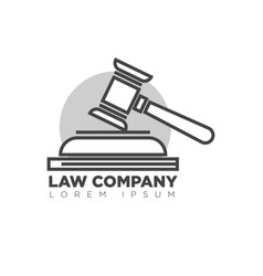 Law company office monochrome logotype with judges vector