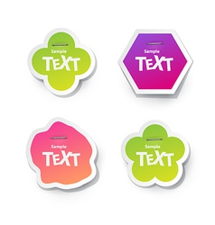 Sticker for text vector