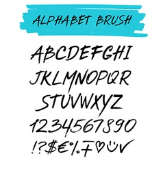Alphebet set brush style vector