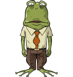 Frog office vector