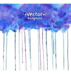 Watercolor texture with smudges vector