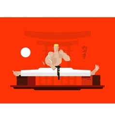 Karate character in the splits vector