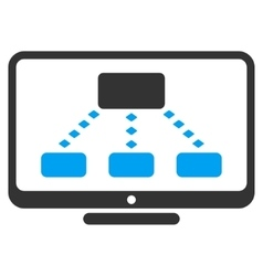 Hierarchy Monitoring Toolbar Icon vector image