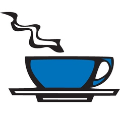 Modern cup vector image