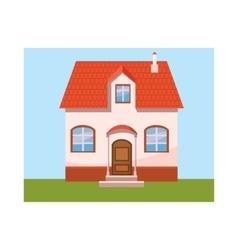 House icon in cartoon style vector