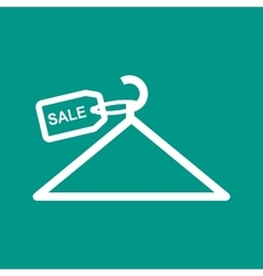 Sale tag on hanger vector