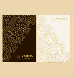 a4 format cards decorated with lace pattern in vector image vector image