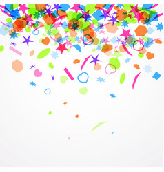 Abstract festive background with colorful confetti vector