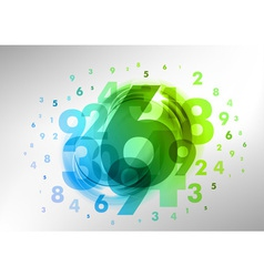 abstract numbers green vector image