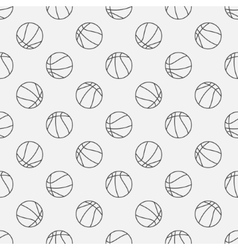 Basketball linear pattern vector image vector image