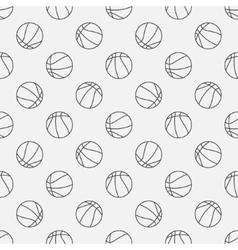Basketball linear pattern vector