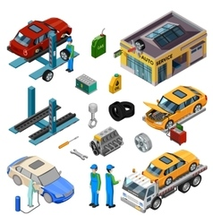 Car Service Isometric Decorative Icons vector image vector image